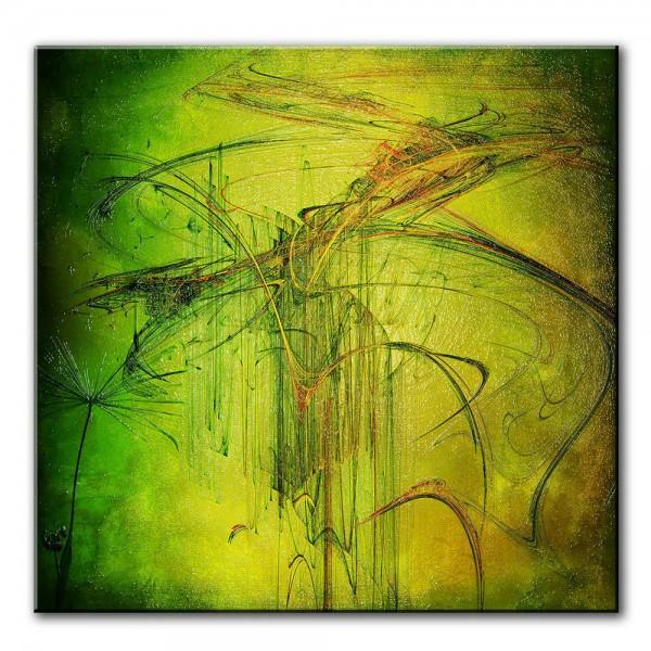 Frühlinghafte Bewegung, abstrakt, 60x60cm