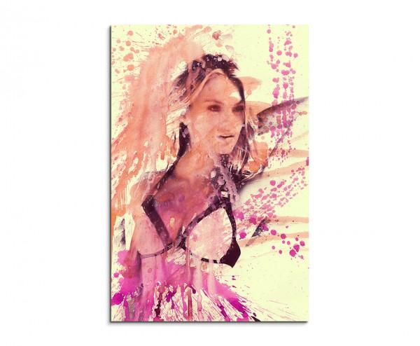 Candice Swanepoel Superhot 90x60cm  Aquarell Art Leinwandbild