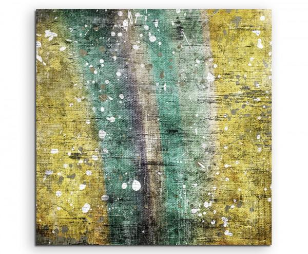 Abstraktes modernes Gemälde mit weißen Flecken auf Leinwand exklusives Wandbild moderne Fotografie f