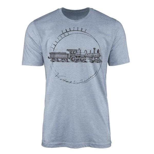 Vintage Herren T-Shirt Lokomotive