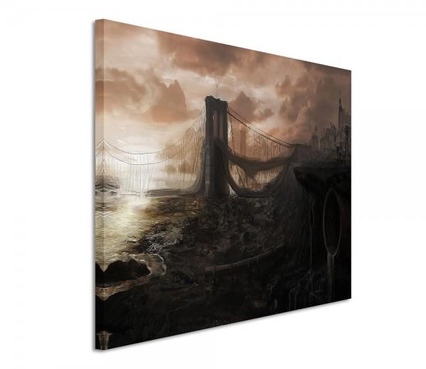Brooklyn Bridge Ruins Fantasy 120x80cm