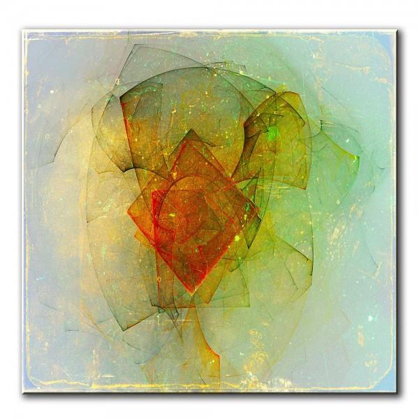 Eigene Mitte, abstrakt, 60x60cm