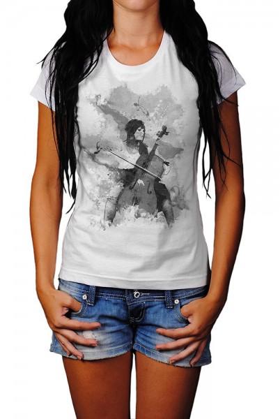 Chello Spielerin I Herren und Damen T-Shirt BLACK-WHITE