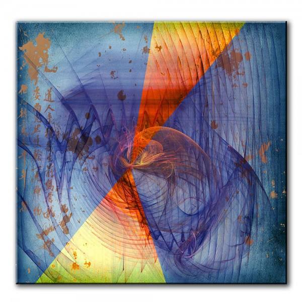 Blaues Band, abstrakt, 60x60cm