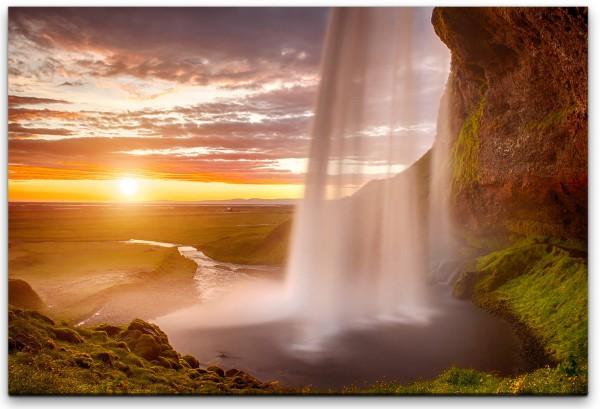 Wasserfall auf einer Insel Wandbild in verschiedenen Größen