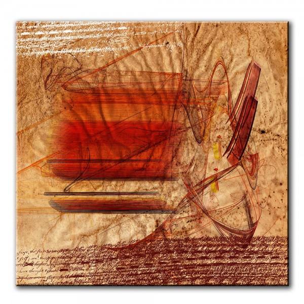 Gedrucktes Buch, abstrakt, 60x60cm