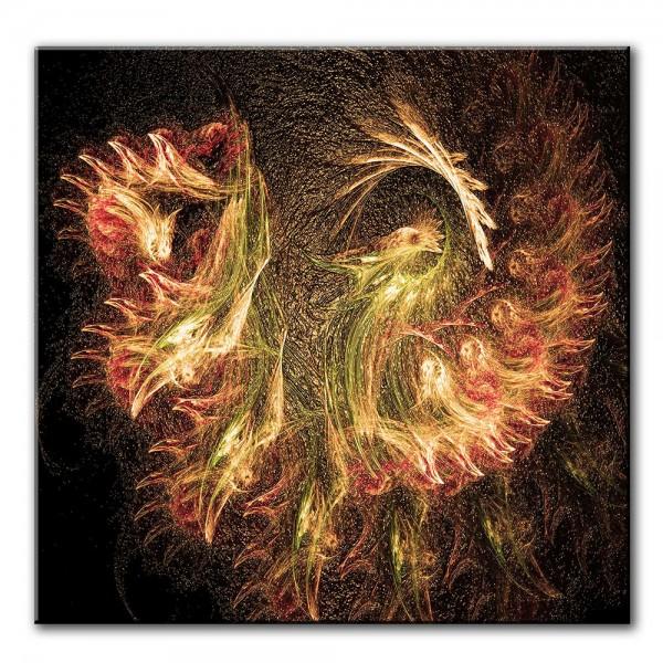 Feuer des Drachens, abstrakt, 60x60cm