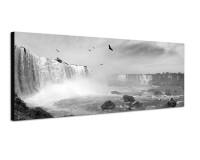 150x50cm Brasilien Wasserfälle Vögel Wolkenschleier