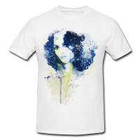 Vanessa Paradis V Premium Herren und Damen T-Shirt Motiv aus Paul Sinus Aquarell