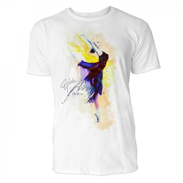 Ballerina Ballone Sinus Art ® T-Shirt Crewneck Tee with Frontartwork