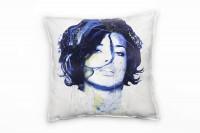 Adriana Lima Deko Kissen Bezug 40x40cm für Couch Sofa Lounge Zierkissen