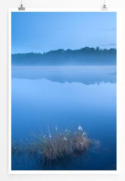 Stiller See bei Nebel 60x90cm Poster