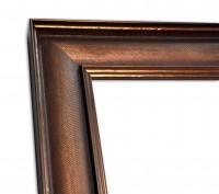 Industrial Chic Rahmenleiste geprägte Oberfläche in Bronze