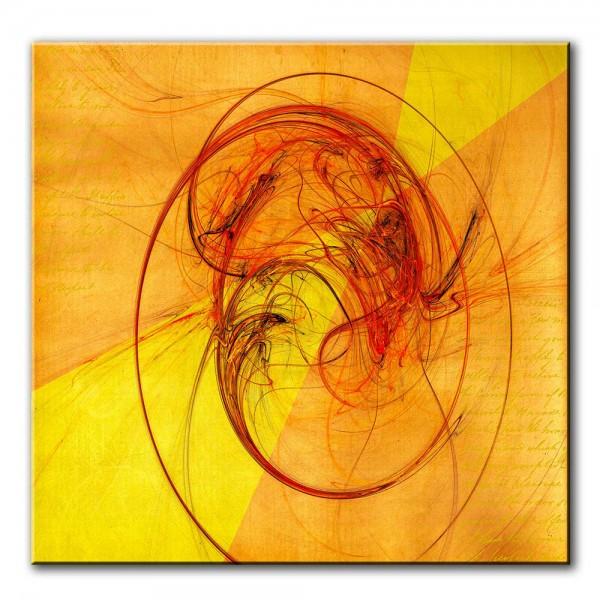 Sonnenkraft, abstrakt, 60x60cm