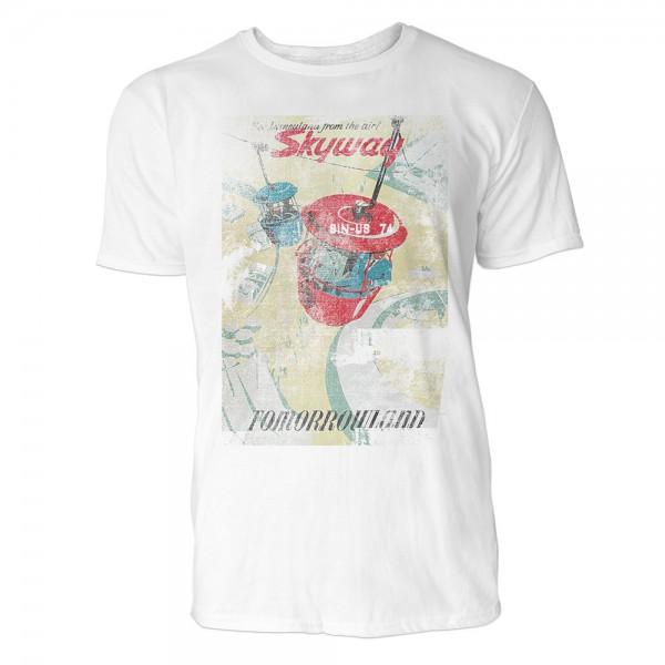 Skyway Herren T-Shirts in Karibik blau Cooles Fun Shirt mit tollen Aufdruck