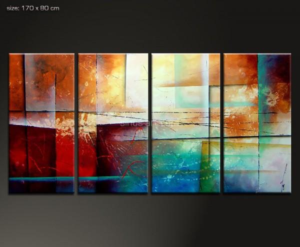 another shore - Gemälde mit geometrischen Elementen