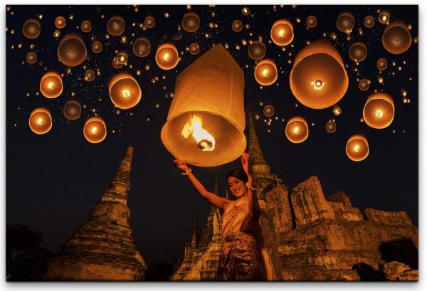 Brennende Lampe Wandbild in verschiedenen Größen