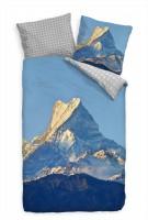 Himalaja Berg Blau Gipfel Sonnenuntergang Bettwäsche Set 135x200 cm + 80x80cm  Atmungsaktiv