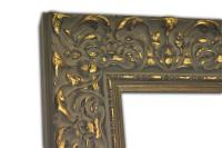 Exklusiver Echtholzrahmen Barock mit Verzierung in goldbraun