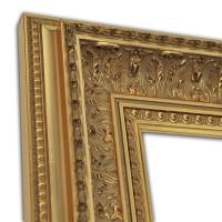 Exklusiver Echtholzrahmen gold in Barockoptik