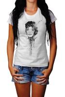 Audrey-Hepburn-IV Herren und Damen T-Shirt BLACK-WHITE