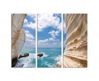 130x90cm weiße Klippen Israel Libanon Meer