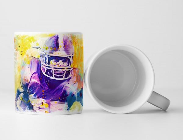 American Football IV Tasse als Geschenk, Design Sinus Art