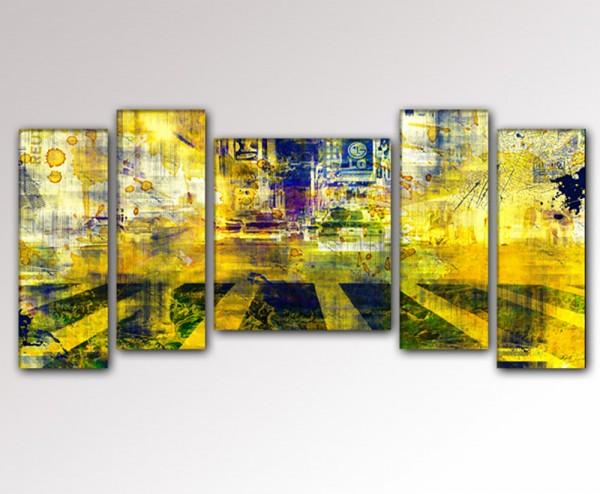 city-scape- 5teiliges Bild 130x70cm