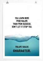 Poster in 60x90cm Du lernst mehr aus Misserfolg als aus Erfolg. Lass dich nicht stoppen.