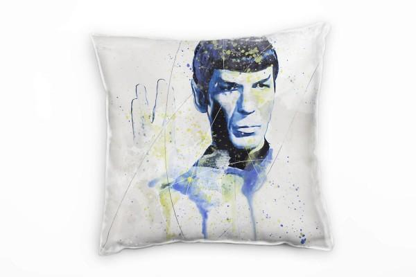 Star Trek Mr Spock Deko Kissen Bezug 40x40cm für Couch Sofa Lounge Zierkissen