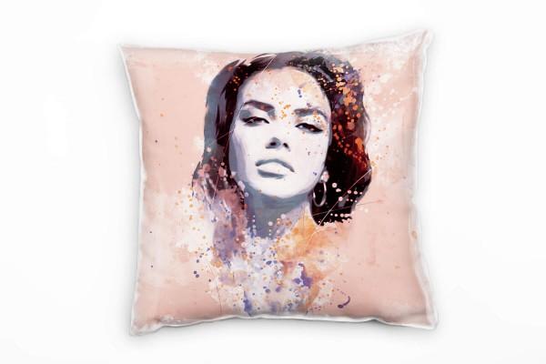 Adriana Lima II Deko Kissen Bezug 40x40cm für Couch Sofa Lounge Zierkissen