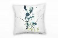 Pele III Deko Kissen Bezug 40x40cm für Couch Sofa Lounge Zierkissen