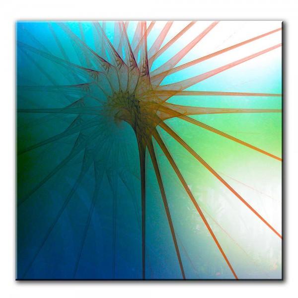 Blick des Sommers, abstrakt, 60x60cm