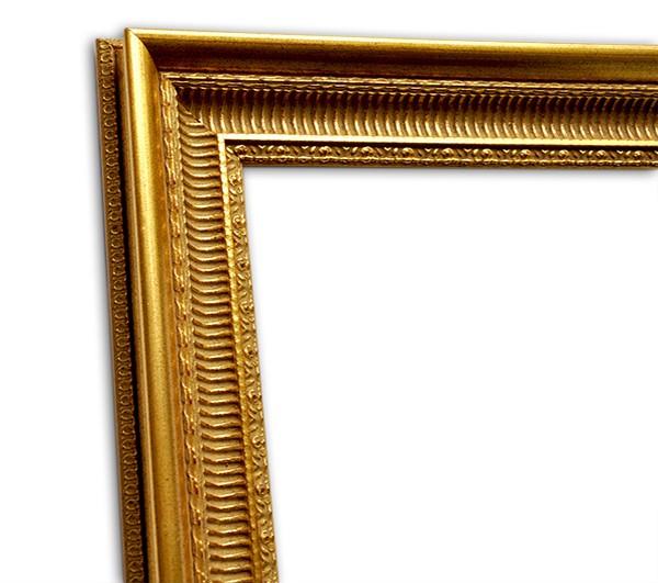 Exklusiver Echtholzrahmen in gold klassisch italienisch