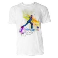 Bowling Sinus Art ® T-Shirt Crewneck Tee with Frontartwork