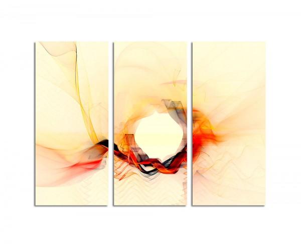 130x90cm Wandbild Abstrakt167 -3x90x40cm