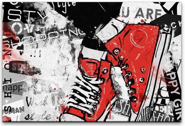 Sneakerpaar Wandbild in verschiedenen Größen