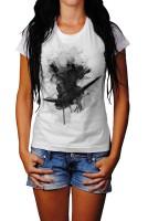 Assassins Creed Bogen Herren und Damen T-Shirt BLACK-WHITE