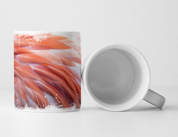 Tasse Geschenk Flamingofedern