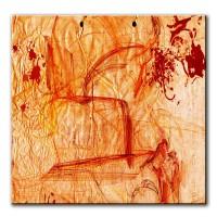 Botschaften, abstrakt, 60x60cm
