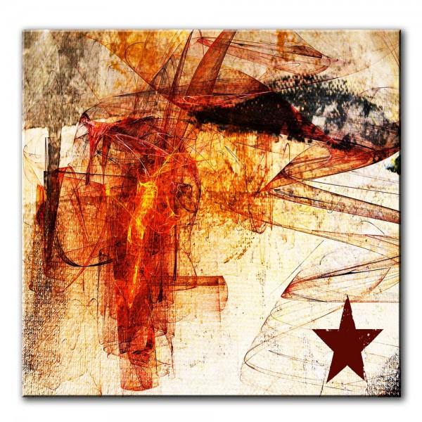 Feuerstern, abstrakt, 60x60cm