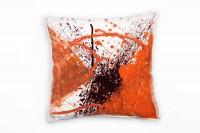 Couch Sofa Lounge Zierkissen in 40x40cm Blutorange Feuerrot Rotschwarz Weiß