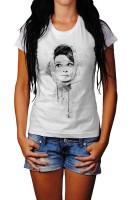 Audrey Hepburn VI Herren und Damen T-Shirt BLACK-WHITE