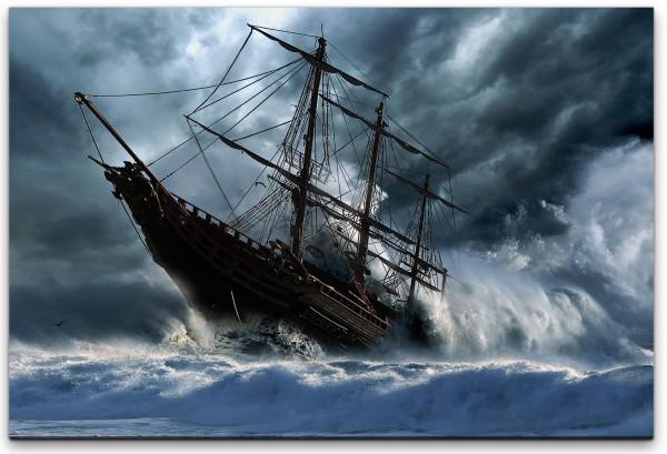 Schiff auf dem Meer Wandbild in verschiedenen Größen