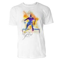 Hürdenlauf seitlich Sinus Art ® T-Shirt Crewneck Tee with Frontartwork