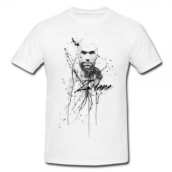 Zindine-Zidane Herren und Damen T-Shirt BLACK-WHITE