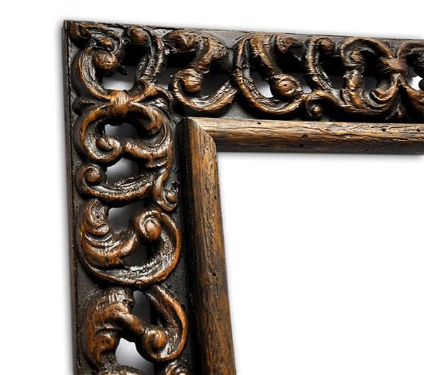 Echtholzrahmen Braun glänzend in Vintageoptik
