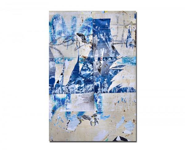 120x80cm Plakat alt zerrissen blau