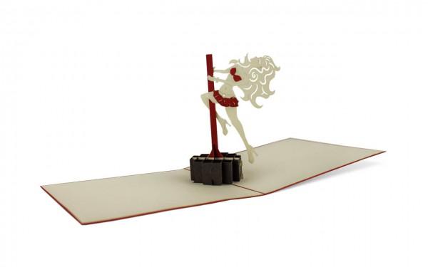 Pole Dance Grußkarte Größe: 15x15cm