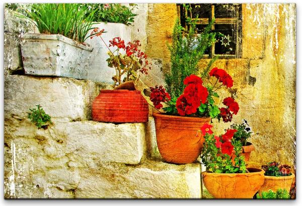 Blumentöpfe Wandbild in verschiedenen Größen